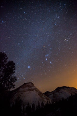 Orion over Zion (Jeffrey Sullivan) Tags: park winter copyright usa jeff night canon way stars eos utah photo mark national ii sirius orion 5d zion zionnationalpark sullivan february milky 2009 allrightsreserved dogstar Astrometrydotnet:status=solved 5dmarkii 5dmkii canon5dmarkii Astrometrydotnet:version=12233 Astrometrydotnet:id=alpha20090835396028