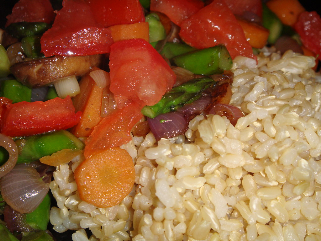 Vegetable Stir Fry with Massa Rice