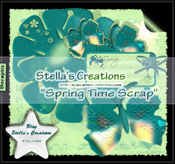 Spring Time Scrap - Blog Stella's Creations - http://sc-artistanelcuore.blogspot.com