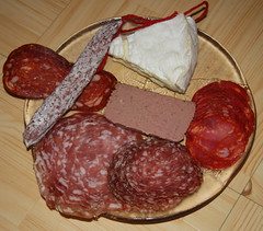 Patchy (JGU71) Tags: food cheese dinner fig mini chorizo brie liver fennel salami calabrese rustique nonvegetarian fuet pt spinata borsotto