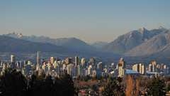 Vancouver Skyline and Mountains HDR
