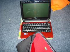 My new Acer Aspire One, the case, and lots of fingerprints