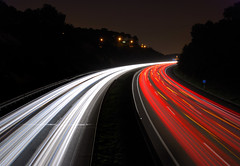 Caminos (SlapBcn) Tags: barcelona light movement highway long exposure bcn trails caminos autopista slap roads enmovimiento 18200vr nikond80 colorphotoaward slapbcn unbesazooocumpleaeraaa aversiundianoscruzamosenuno ynostomamoseseroncito