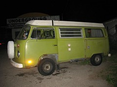 Green Bay Window Campmobile in Austin, Texas - Driver Side Front View