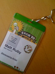 SXSW 2009 badge