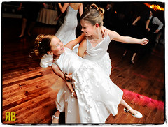 Flower Girl Flourish (Ryan Brenizer) Tags: wedding girls cute girl fun newjersey nikon funny flash reception flowergirl morristown d3 weddingphotojournalism 2470mmf28g