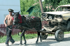 Car Trip (romaniashots) Tags: horse car romania cart wreck load bucovina interestingness113 i500 romaniashots lifeafteroil