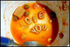 Love You (WonderRob) Tags: shadow red food orange white chicken love water yellow tomato soup corn you bowl meat delicious peas iloveyou 365 alphabet pea campbell campbells campbellssoup loveyou alphabetsoup robdominguez