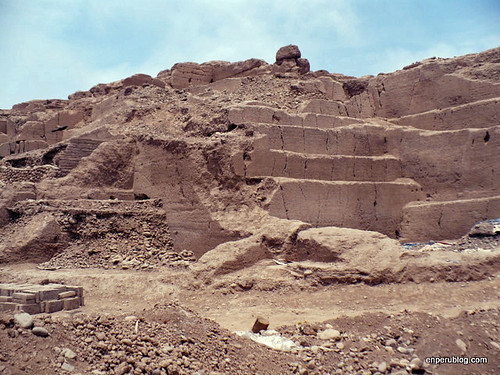 Huaca Huantille awaiting restoration