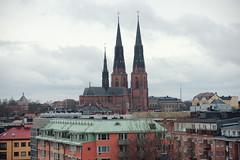 Uppsala Twin Towers (williamsaar) Tags: travel tourism church landscape towers twin uppsala torn kyrka cityskape kyrktorn