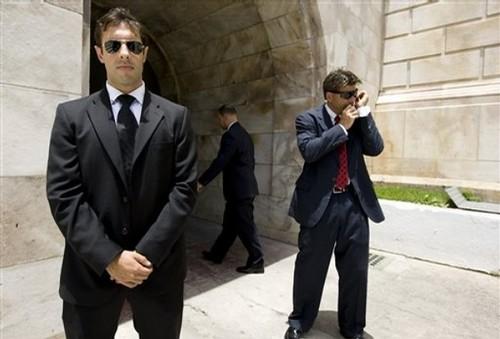 FBI agents engaged in a raid