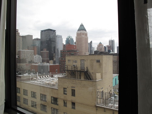 Hotelroom view in New York