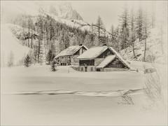 La Vallée de la Haute Clarée (@lain G) Tags: nb chalet neige chapelle ferme torrent vallée hautesalpes maisonenbois valléedelaclarée francelandscapes laclarée
