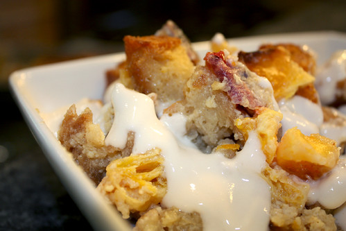 Creamsicle Bread Pudding with Triple Cream Sauce