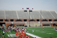 the empty student section (Johnny Heger) Tags: college campus illinois spring universityofillinois urbana champaign uofi chipsi