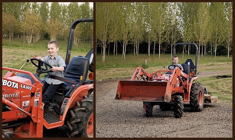 Boy #2 and Tractor