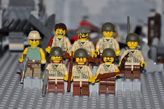 """The mismatched warriors"" (part of Brickmania entry) (The Ranger of Awesomeness) Tags: lego wwii brickarms sigfigs"