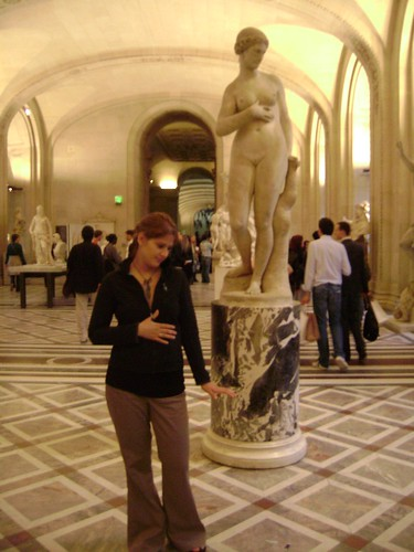Posing at Louvre