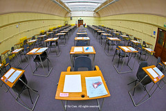 Good luck (Sir Cam) Tags: cambridge university fisheye exams goodluck examinations sircam largeexaminationhall