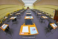 Good luck (Sir Cam) Tags: cambridge university fisheye exams goodluck examinations sircam largeexaminationhall