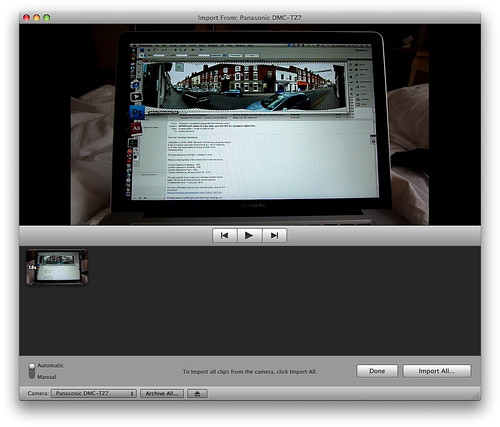 avchd lite direct import in imovie 8.0.3