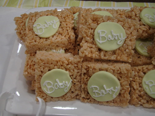 Rice Krispie baby shower treats