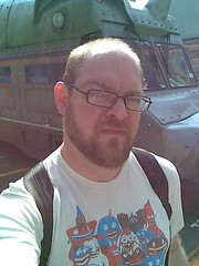 Self portrait with Pig Truck (evil robot 6) Tags: seattle me threadless phonepost pigtruck