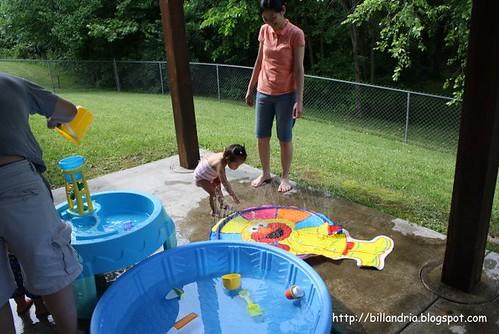 backyard toddler water park
