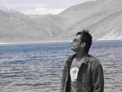 Lost in Pangong tso lake (keedap) Tags: road trip lake la deepak tso leh chang gauri ladakh abhay pangong naveen surinder