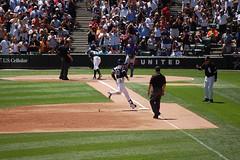 DSC_0163 (southsideandy) Tags: chicago game home sports major play baseball running run national american highfive cubs congratulations alexei trot whitesox league ramirez bases interleague rounding