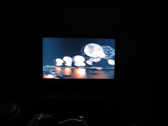 Macy's fireworks on the new TV