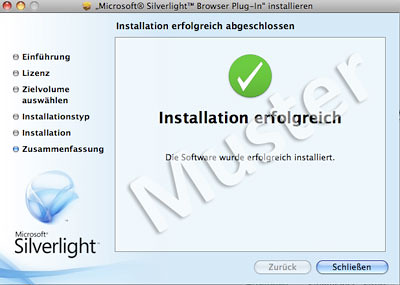 Microsoft Silverlight Installation erforderlich