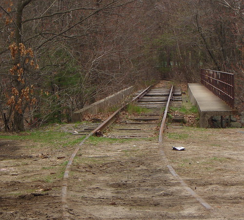 Old railroad tracks, Newton, MA