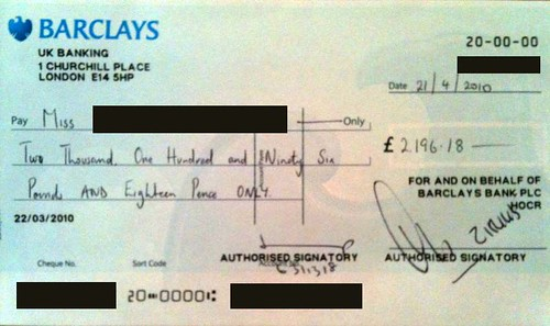 how to write a cheque example uk cheque