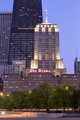 The Drake Hotel at Sunset (The Drake Hotel Chicago) Tags: sunset chicago lakeshoredrive drakehotel drake11 dopplr:stay=l231
