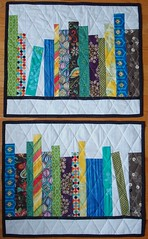 bday bookshelf quilts