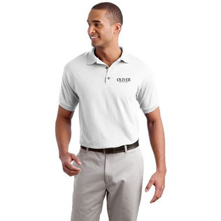 Promotional Products-Gildan® Ultra Blend Jersey Knit Sport Shirt (White)  8579