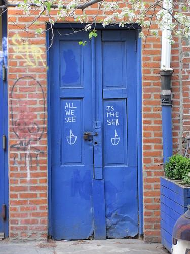 Blue door, E. 2nd Street near the Bowery