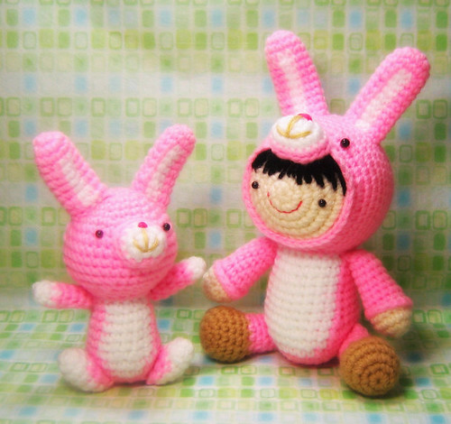 Girl in a Bunny Suit and Her Pet Crochet Pattern
