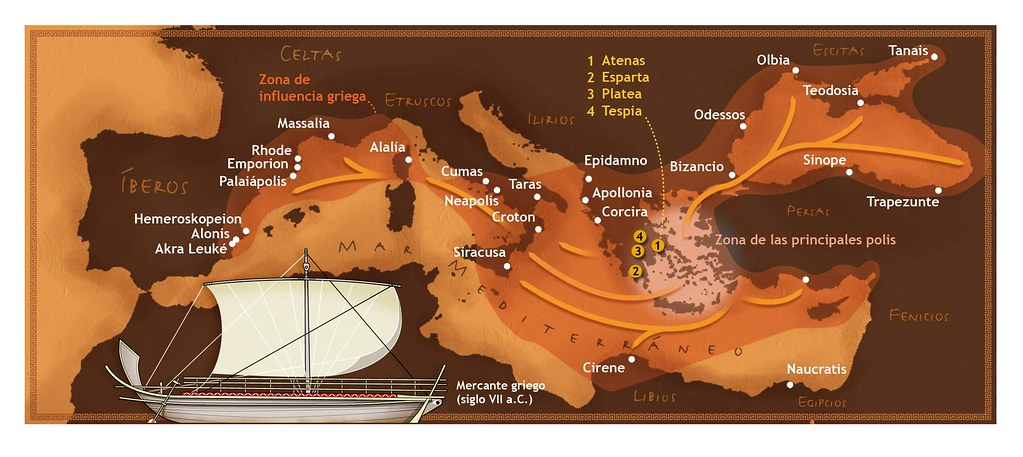 Expansión griega por el Mediterráneo