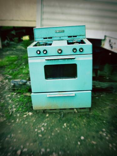 abandoned Magic Chef range