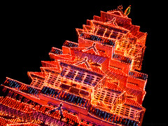 Fete Decor (Anish Krishnan [anishk.in]) Tags: light night temple flickr shot trichur pooram