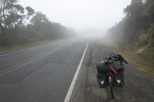 On a chilly mountain pass at around 3.200 m on my way to San Jose, Costa Rica.