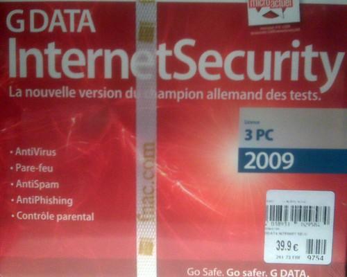 GDATA Internet Security 2009 à la FNAC