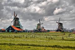 Intense and Ominous (Souvik_Prometure) Tags: netherlands windmill zaanseschans flickrsbest souvikbhattacharya