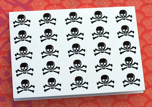 Letterpress skull cards. Yeah!