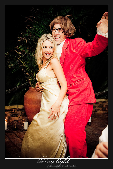 Married to Austin Powers. Wedding photography from Tea Gardens.