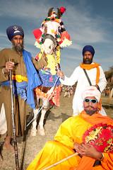 The Three Musketeers (gurbir singh brar) Tags: india warriors sikhs punjab 2009 brar gurbir nihangs kartpostal holamohalla gurbirsinghbrar gurbirsingh