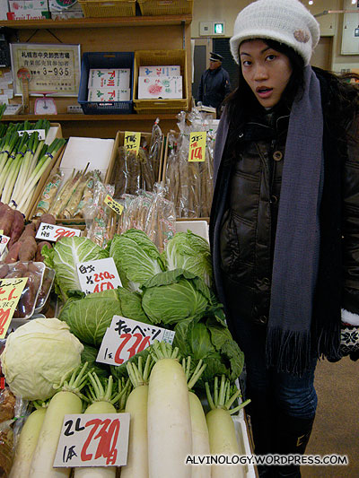 Gigantic cabbages and carrots