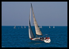 Sailing / Navegando (Heccastudio / I see you soon) Tags: sea color colour canon eos mar sailing catalonia sail catalunya navegar hdr catalua navegando yatch yate 400d hecca
